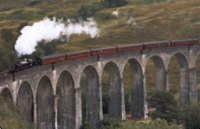 Steamtrain over Glenfinnan Viaduct